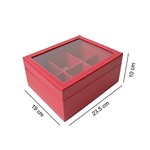 Caja de te rojo medidas