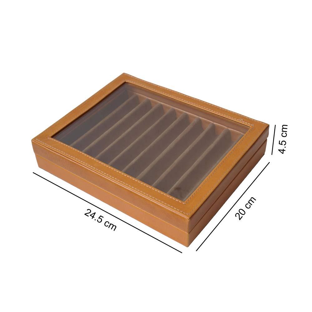 Caja para plumas miel medidas