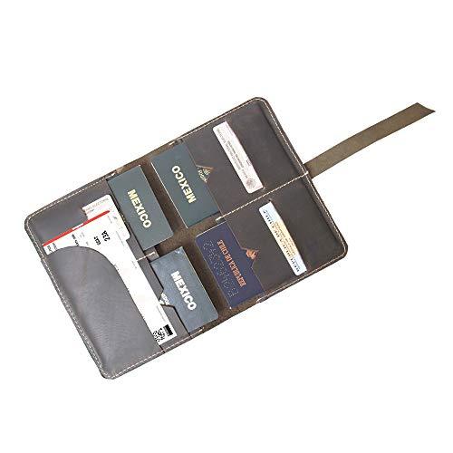 Porta pasaporte familiar café