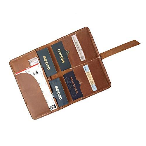 Porta pasaporte familiar miel