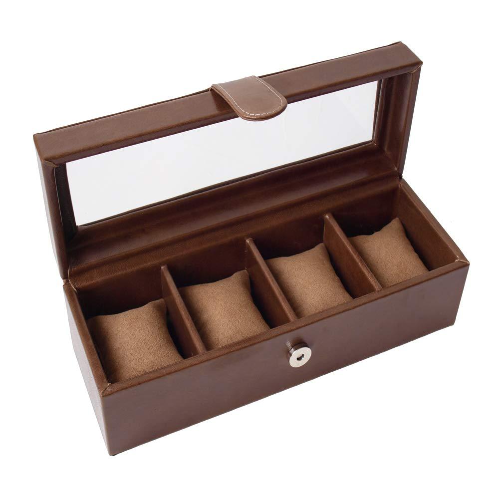 Relojero de 4 chocolate abierto lado