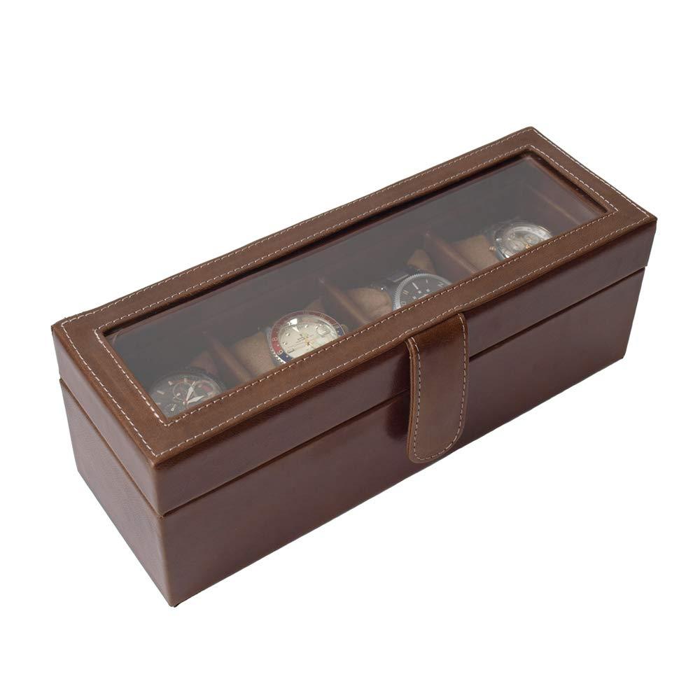 Relojero de 4 chocolate cerrado